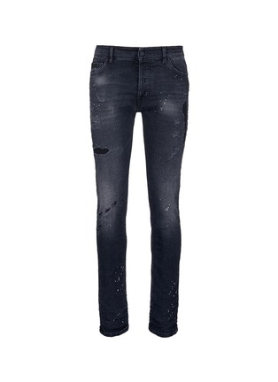 Main View - Click To Enlarge - Marcelo Burlon - Regular fit vintage wash jeans