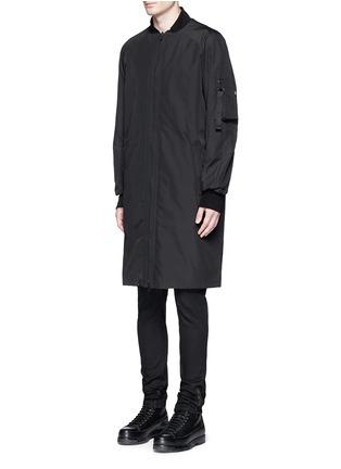 Front View - Click To Enlarge - Marcelo Burlon - 'Rahue' reversible long jacket