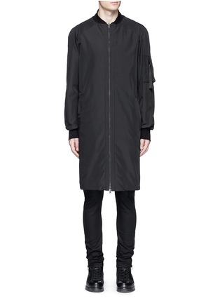 Main View - Click To Enlarge - Marcelo Burlon - 'Rahue' reversible long jacket