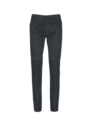 Main View - Click To Enlarge - Marcelo Burlon - Slim fit overdye biker jeans