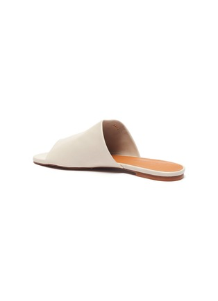 - CLERGERIE - 'ITOU' Wide Strap Lambskin Leather Mules