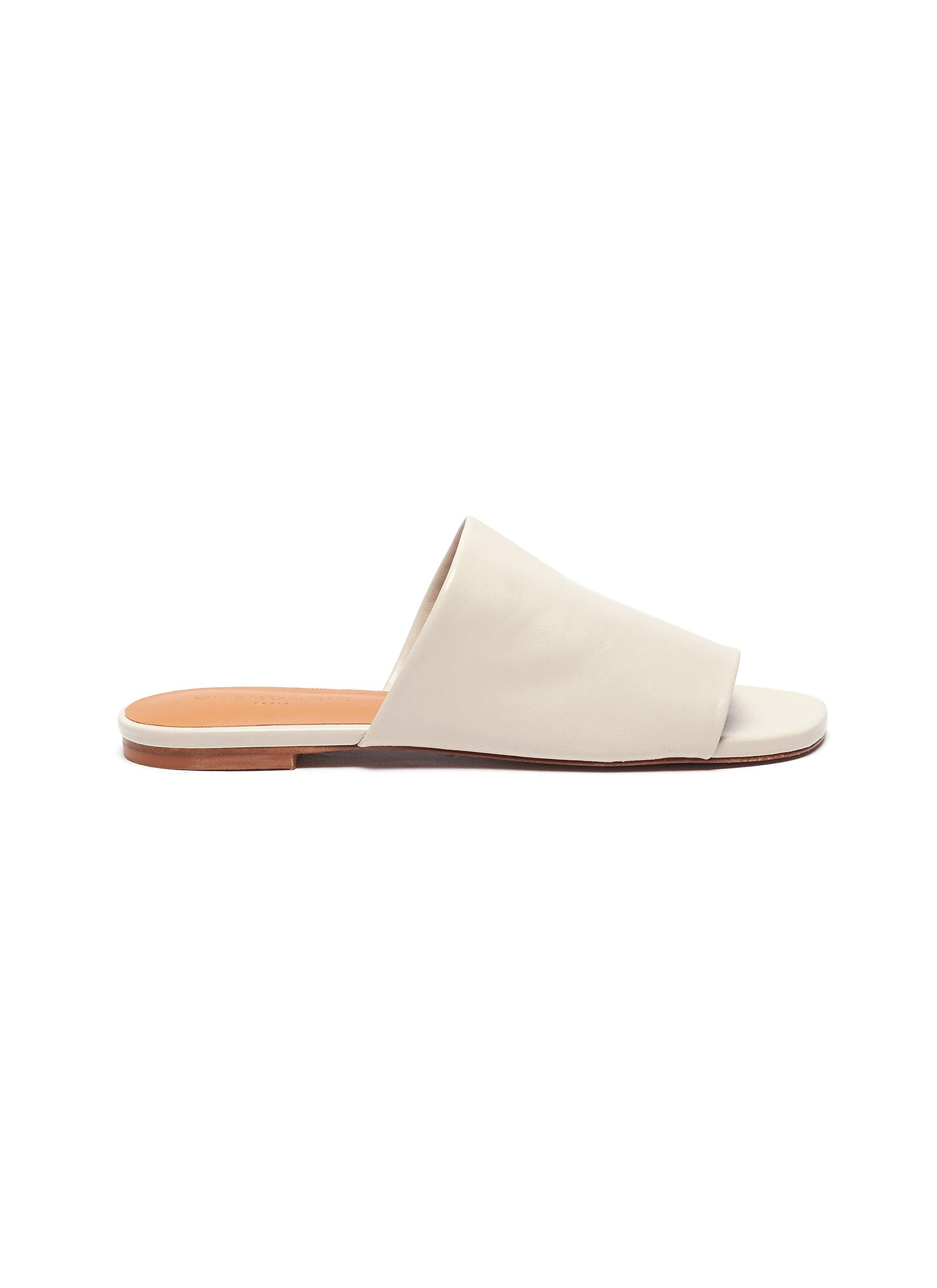 Clergerie 'ITOU' WIDE STRAP LAMBSKIN LEATHER MULES