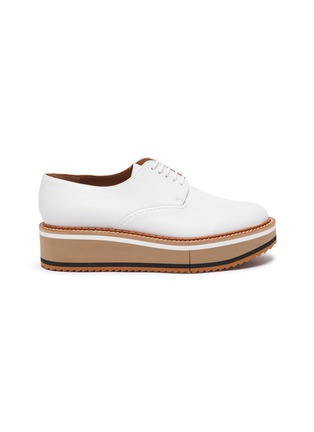 Main View - Click To Enlarge - CLERGERIE - 'Brook' Lambskin Leather Platform Derby Shoes