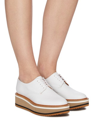 Figure View - Click To Enlarge - CLERGERIE - 'Brook' Lambskin Leather Platform Derby Shoes