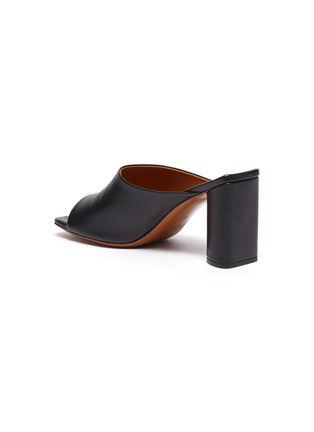 - CLERGERIE - 'Jodie' Heeled Lambskin Leather Mules