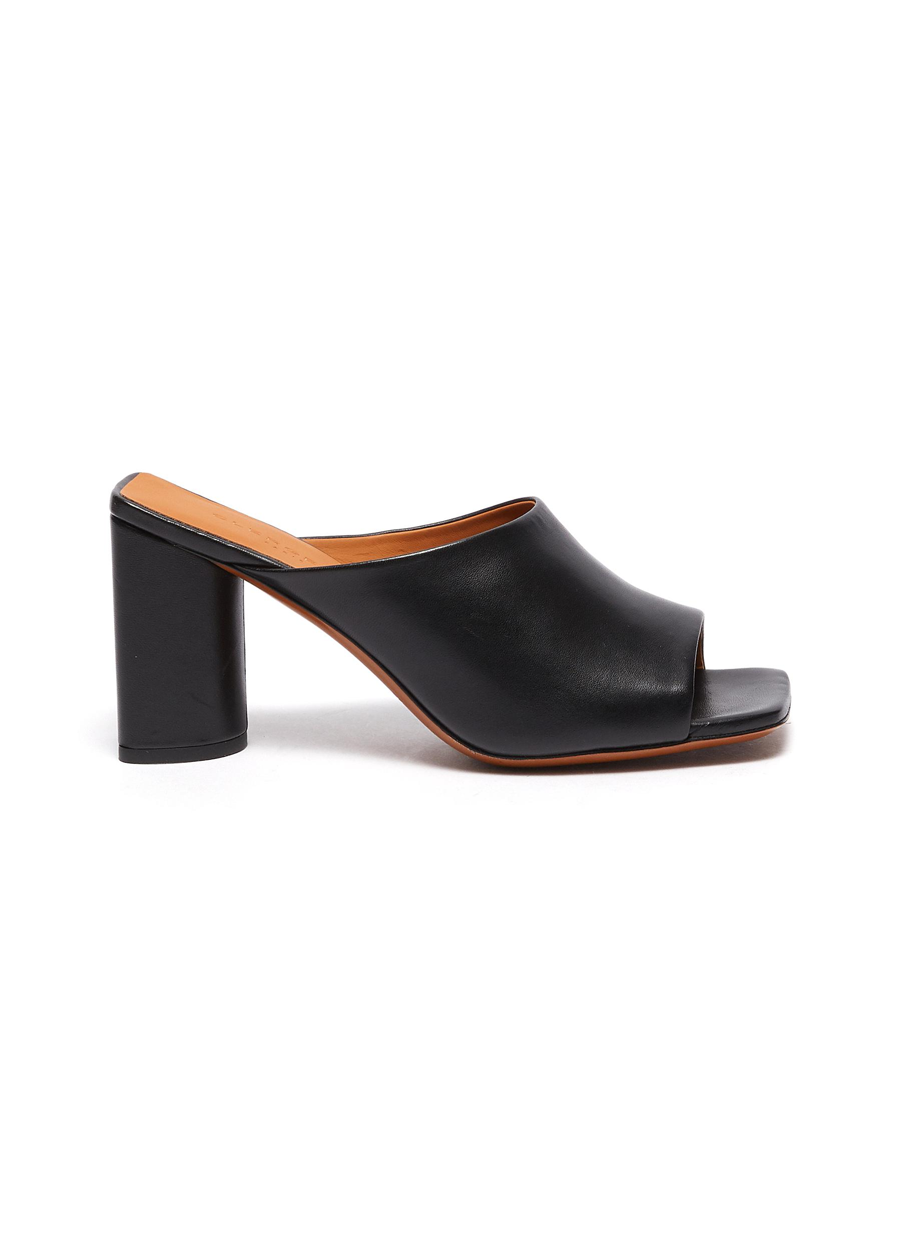 Clergerie 'JODIE' HEELED LAMBSKIN LEATHER MULES