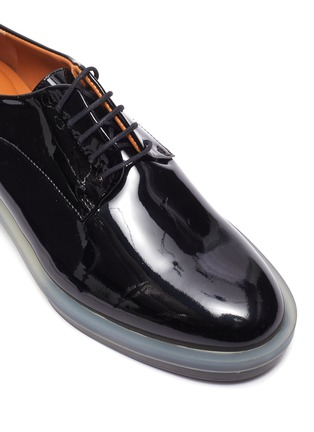 Detail View - Click To Enlarge - CLERGERIE - 'Roma' Patent Leather Transparent Welt Derby Shoes