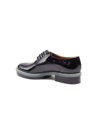 - CLERGERIE - 'Roma' Patent Leather Transparent Welt Derby Shoes