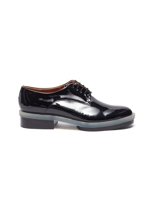 Main View - Click To Enlarge - CLERGERIE - 'Roma' Patent Leather Transparent Welt Derby Shoes