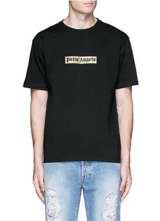 Main View - Click To Enlarge - Palm Angels - Glitter logo print T-shirt