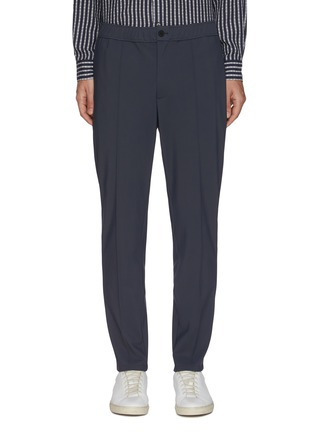 Main View - Click To Enlarge - THEORY - 'Mayer' Elastic Waist Front Pleat Pants