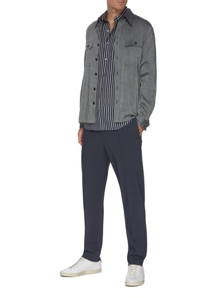 Figure View - Click To Enlarge - THEORY - 'Mayer' Elastic Waist Front Pleat Pants