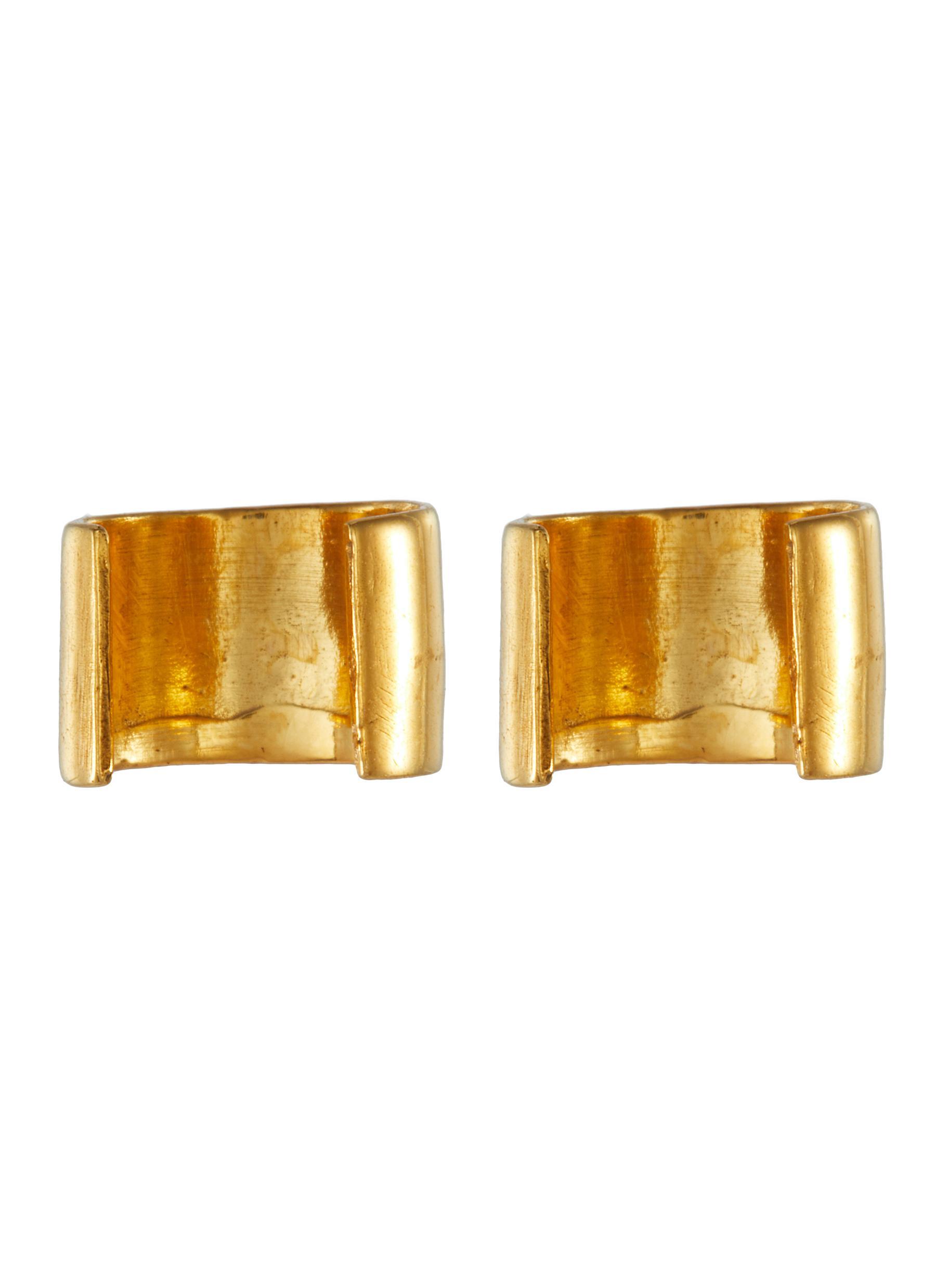 Minimal Tiny' Tubular gold plated airpod earrings