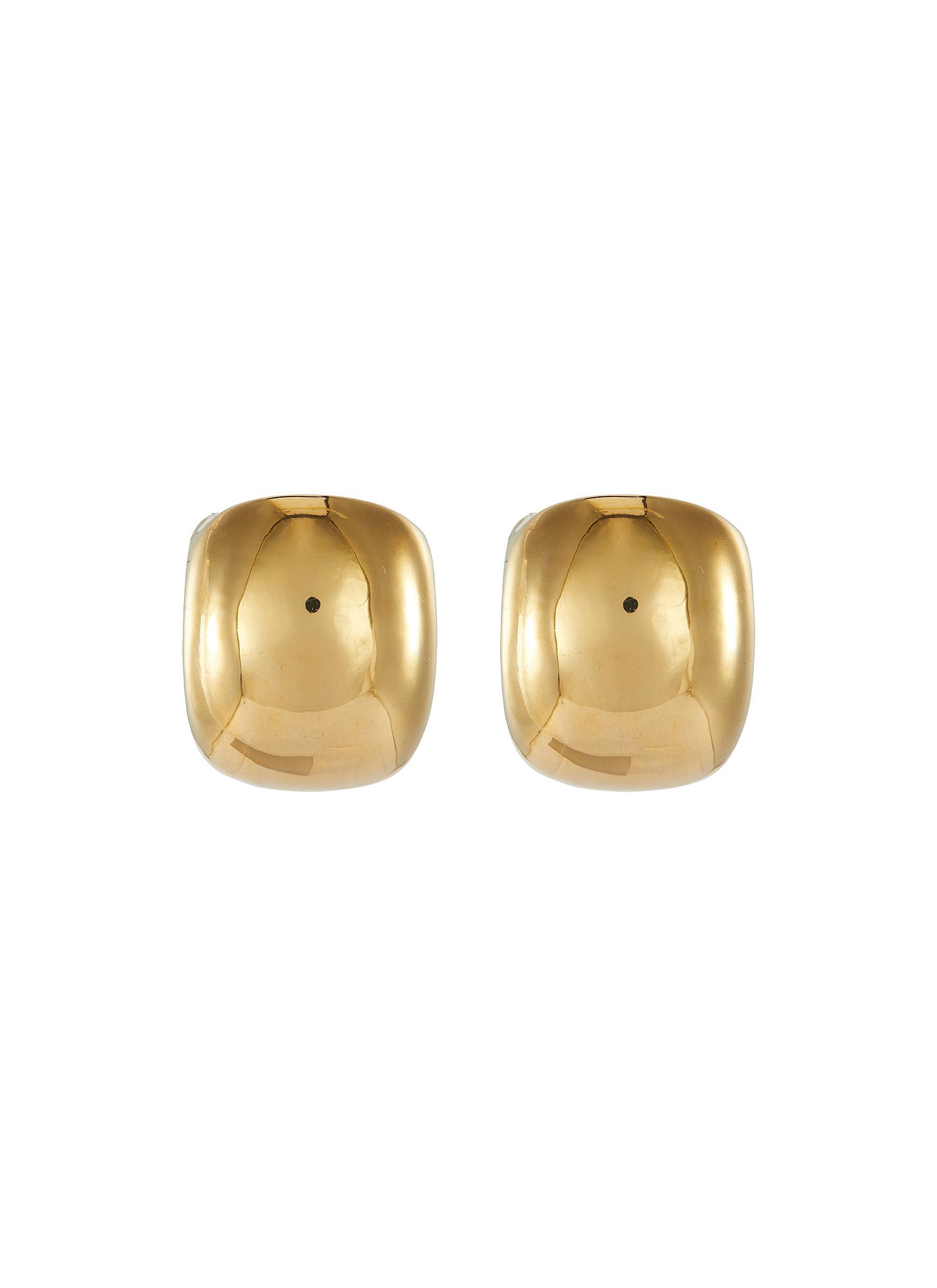 Pebble' gold plated stud earrings