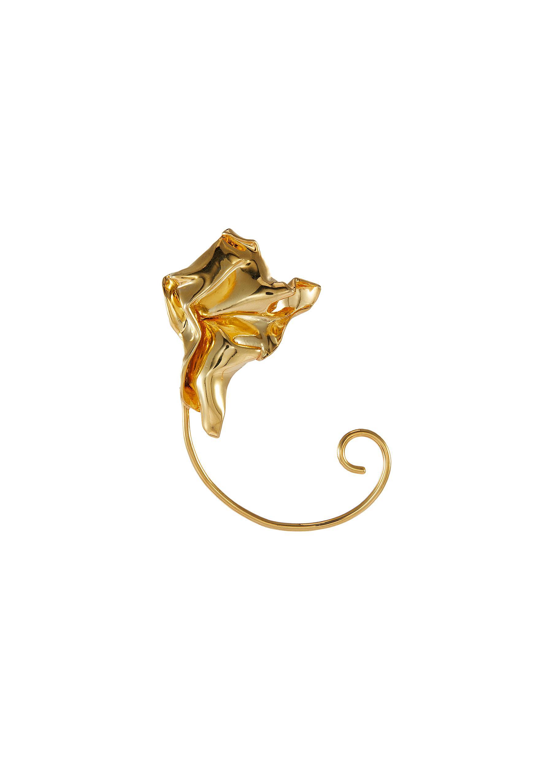 Cascade' gold plated ear cuff