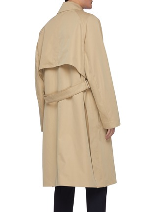 Back View - Click To Enlarge - SOLID HOMME - Double lined oversized trench coat