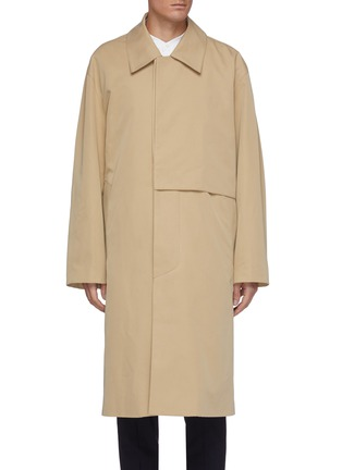 Main View - Click To Enlarge - SOLID HOMME - Double lined oversized trench coat