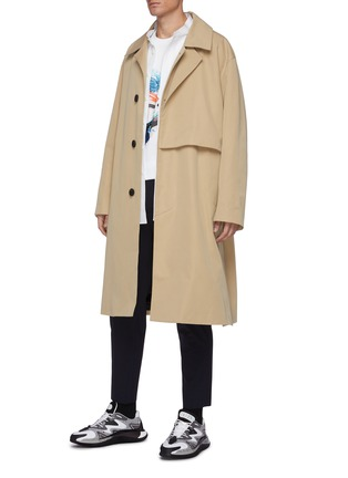 Figure View - Click To Enlarge - SOLID HOMME - Double lined oversized trench coat