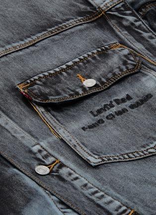- FENG CHEN WANG - x Levi's Contrast Seam Gradient Wash Denim Jacket