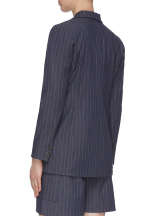 Back View - Click To Enlarge - GANNI - Pinstripe Double Breast Blazer