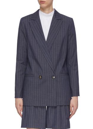 Main View - Click To Enlarge - GANNI - Pinstripe Double Breast Blazer