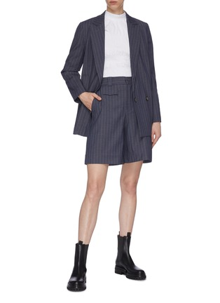 Figure View - Click To Enlarge - GANNI - Pinstripe Double Breast Blazer