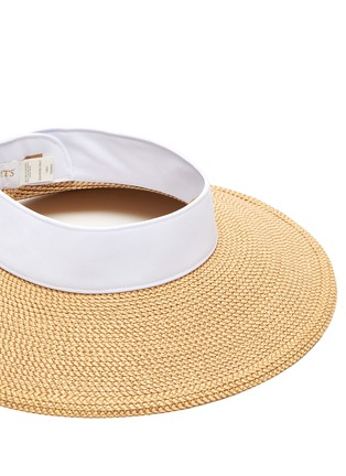 Detail View - Click To Enlarge - ERIC JAVITS - Squishee® Packable Straw Visor
