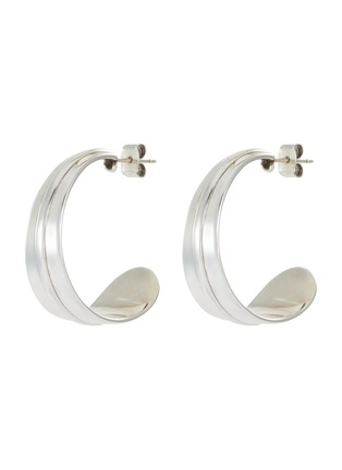 Main View - Click To Enlarge - PHILIPPE AUDIBERT - Annita' silver plated hoop earrings
