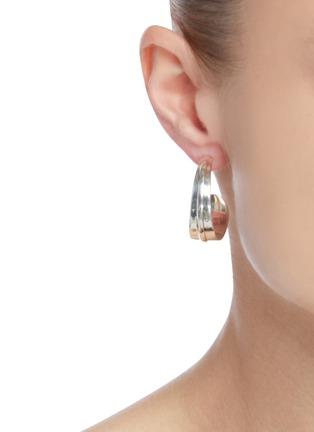 Figure View - Click To Enlarge - PHILIPPE AUDIBERT - Annita' silver plated hoop earrings
