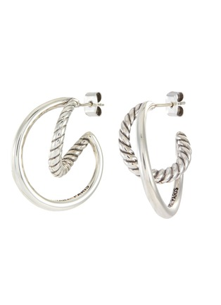 Main View - Click To Enlarge - PHILIPPE AUDIBERT - Jane' twisted double hoop earrings