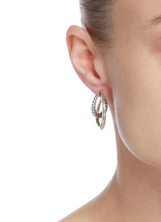 Figure View - Click To Enlarge - PHILIPPE AUDIBERT - Jane' twisted double hoop earrings