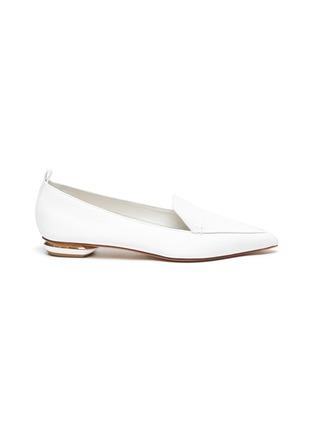 Main View - Click To Enlarge - NICHOLAS KIRKWOOD - Beya' metal heel leather loafers