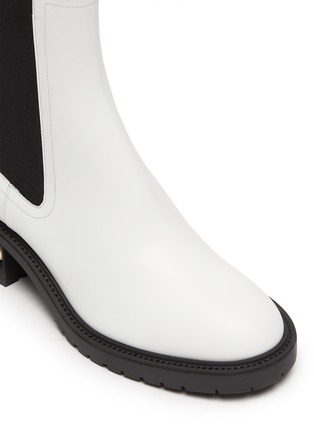 Detail View - Click To Enlarge - NICHOLAS KIRKWOOD - Casati' faux pearl heel leather chelsea boots