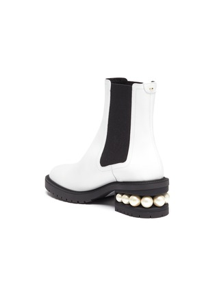 - NICHOLAS KIRKWOOD - Casati' faux pearl heel leather chelsea boots