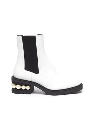Main View - Click To Enlarge - NICHOLAS KIRKWOOD - Casati' faux pearl heel leather chelsea boots