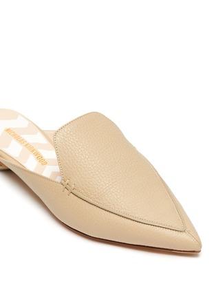 Detail View - Click To Enlarge - NICHOLAS KIRKWOOD - Beya' metal heel leather mules