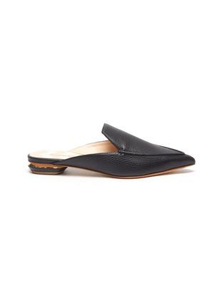 Main View - Click To Enlarge - NICHOLAS KIRKWOOD - Beya' metal heel leather mules