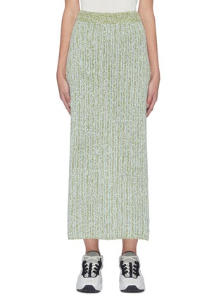 Main View - Click To Enlarge - SWAYING - Back Slit Knit Maxi Skirt