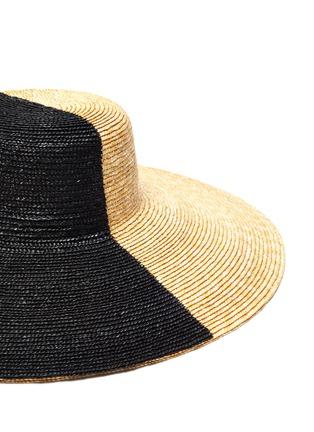 Detail View - Click To Enlarge - ELIURPI - Bicolour wide brim hat
