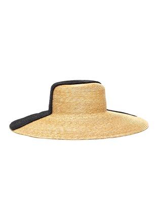 Main View - Click To Enlarge - ELIURPI - Bicolour wide brim hat