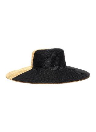 Figure View - Click To Enlarge - ELIURPI - Bicolour wide brim hat