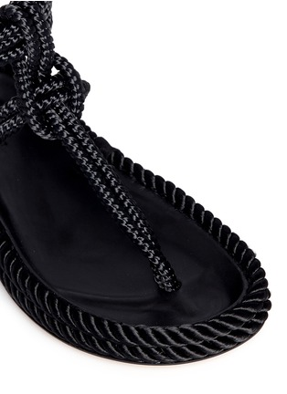 Detail View - Click To Enlarge - Isabel Marant - 'Lesley' knotted rope T-strap sandals