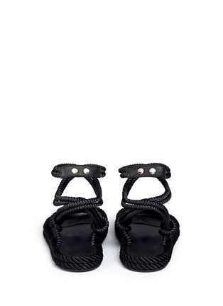 Back View - Click To Enlarge - Isabel Marant - 'Lou' crisscross rope sandals