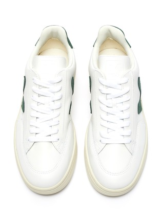 Detail View - Click To Enlarge - VEJA - V-12' Low Top Leather Sneakers