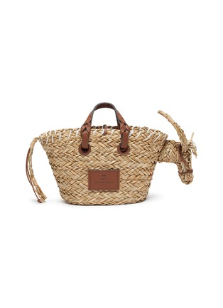 Main View - Click To Enlarge - ANYA HINDMARCH - 'Donkey' Woven Seagrass Small Tote