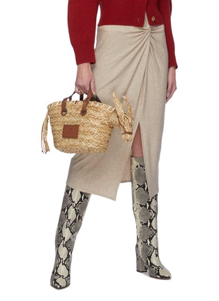 Figure View - Click To Enlarge - ANYA HINDMARCH - 'Donkey' Woven Seagrass Small Tote
