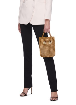 Figure View - Click To Enlarge - ANYA HINDMARCH - 'Eyes' Beaded Small Tote