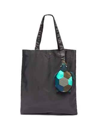 Main View - Click To Enlarge - ANYA HINDMARCH - Turtle Charm Packable Nylon Tote