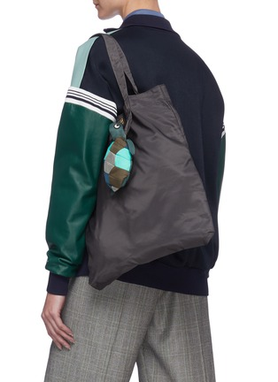 Figure View - Click To Enlarge - ANYA HINDMARCH - Turtle Charm Packable Nylon Tote