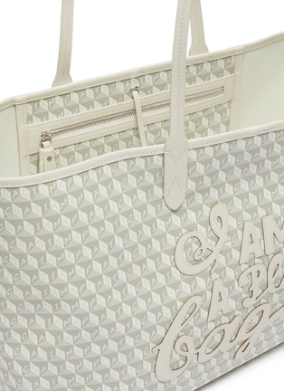 Detail View - Click To Enlarge - ANYA HINDMARCH - 'I Am A Plastic Bag' Logo Appliqué Anagram Print Canvas Tote